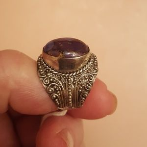 Purple Mojave Turquoise 9.60cts Sterling Size 7